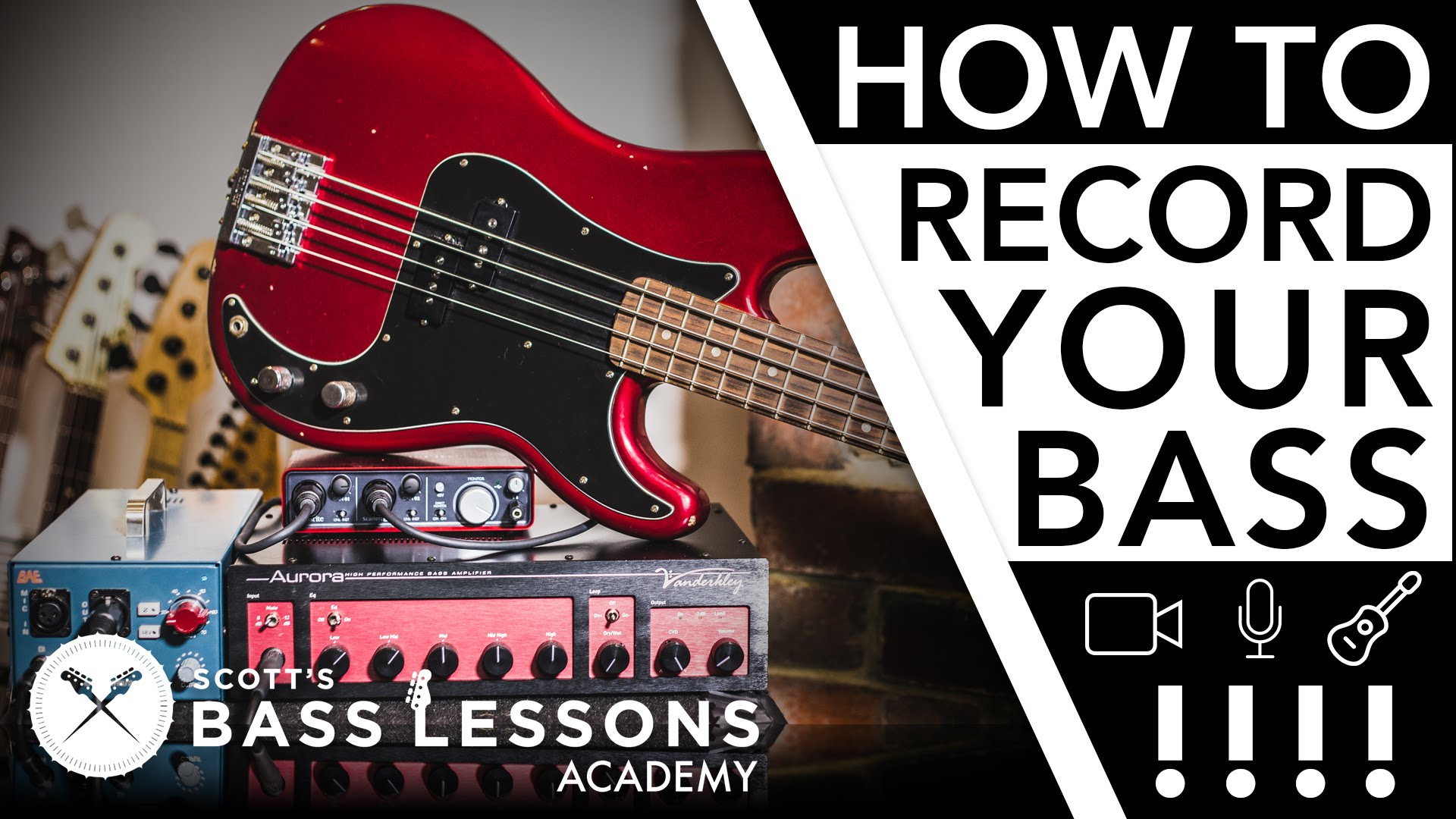 Recording Your Bass – Mic's, D I's and More /// Scott's Bass
