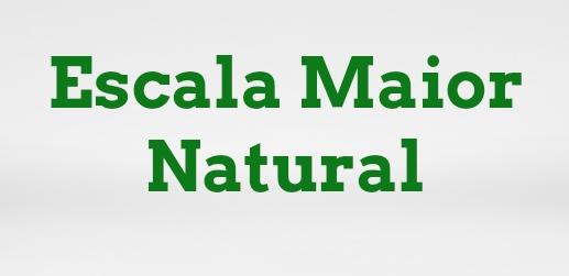 escala maior natural