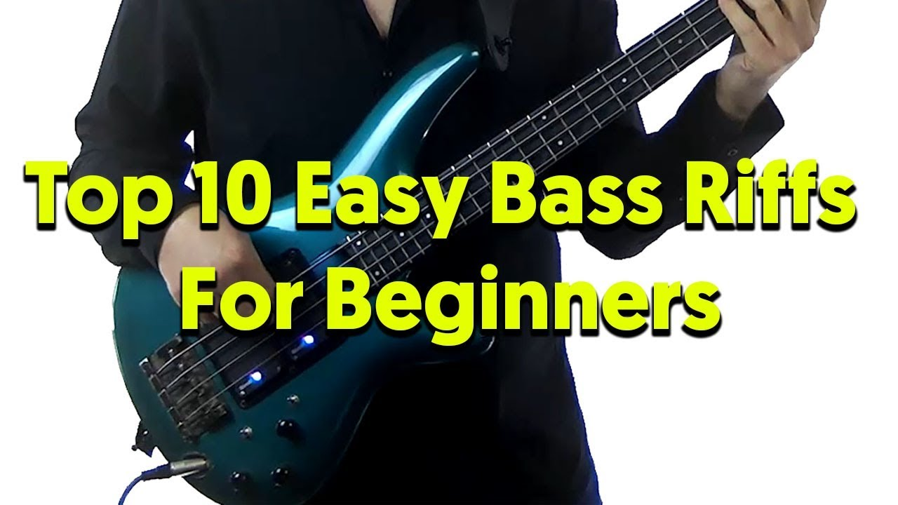 top 10 easy bass riffs for beginners aprender contrabaixo. Black Bedroom Furniture Sets. Home Design Ideas